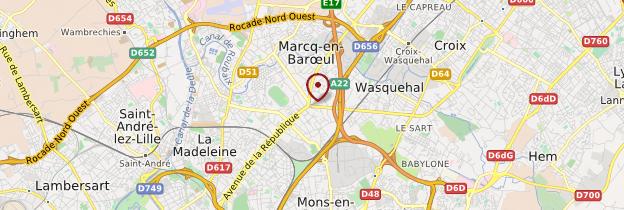 Carte Périphérie de Lille - Lille
