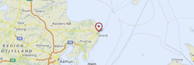 Carte Grenaa - Danemark
