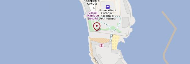 Carte Castello Maniace - Sicile
