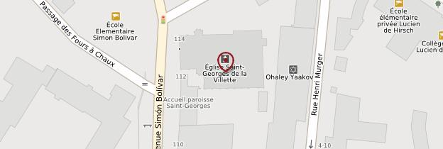 Carte Église Saint-Georges de la Villette - Paris