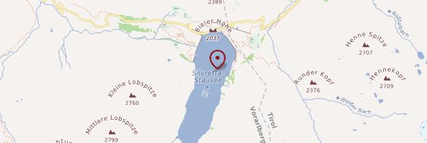 Carte Silvretta-Stausee - Autriche