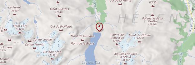 Carte Barrage de la Grande Dixence - Suisse
