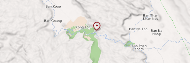 Carte Kong Lor - Laos