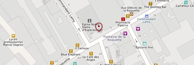 Carte Église Notre-Dame-d'Espérance - Paris