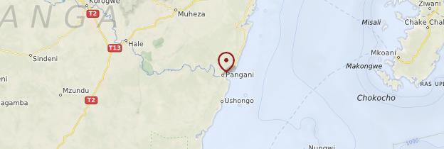 Carte Pangani - Tanzanie