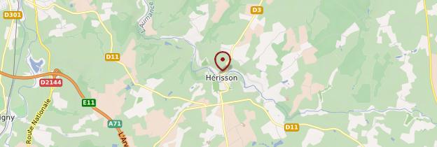 Carte Hérisson - Auvergne