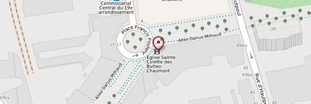 Carte Église Sainte-Colette-des-Buttes-Chaumont - Paris