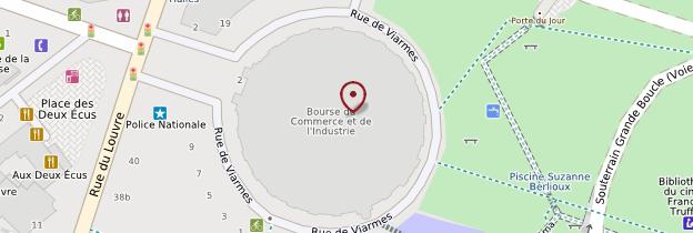 Carte Bourse de commerce - Paris