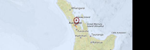 Carte Auckland - Nouvelle-Zélande