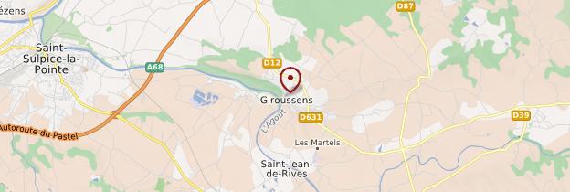 Carte Giroussens - Midi toulousain (Occitanie)