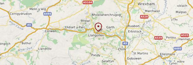 Carte Llangollen - Pays de Galles
