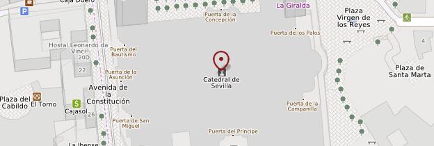 Carte Catedral - Séville