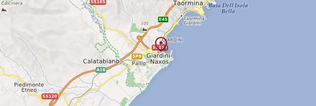 Carte Giardini Naxos - Sicile