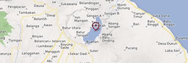 Carte Lac Batur - Bali
