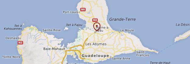 Carte Morne-à-l'Eau - Guadeloupe