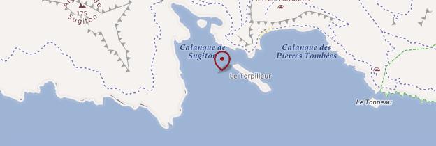 Carte Calanque de Sugiton - Marseille