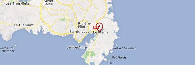 Carte Le Marin - Martinique