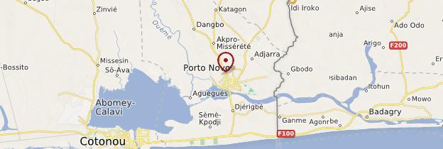 Carte Porto-Novo - Bénin