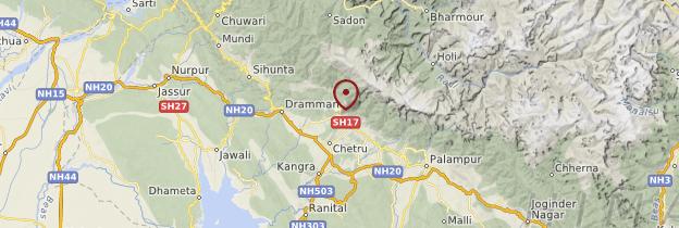 Carte Dharamsala - Inde