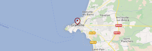 Carte Granville - Normandie