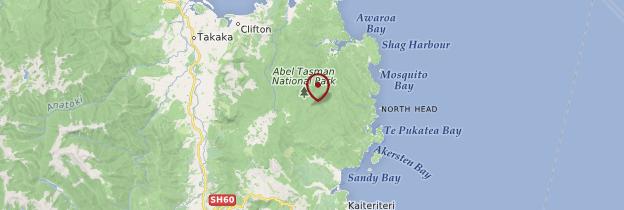 Carte Abel Tasman National Park - Nouvelle-Zélande