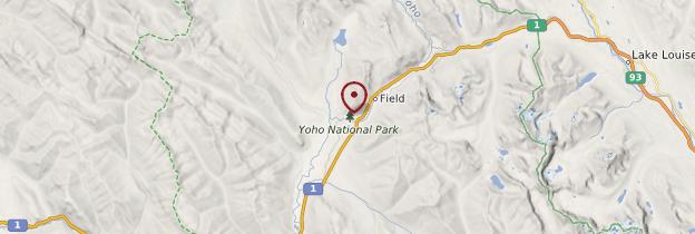 Carte Parc national de Yoho - Canada