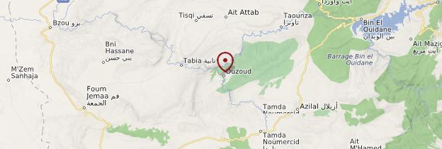 Carte Cascades d'Ouzoud - Maroc