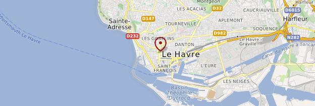 Carte Le Havre - Normandie