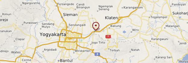 Carte Prambanan - Indonésie