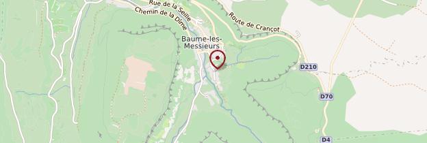 Carte Baume-les-Messieurs - Franche-Comté