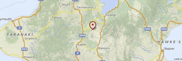 Carte Tongariro National Park - Nouvelle-Zélande