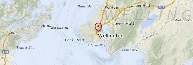 Carte Wellington - Nouvelle-Zélande