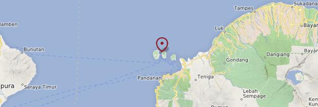 Carte Gili Trawangan - Indonésie
