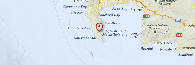 Carte Cap de Bonne-Espérance - Afrique du Sud
