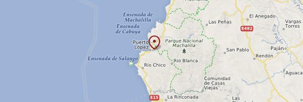 Carte Puerto López - Équateur