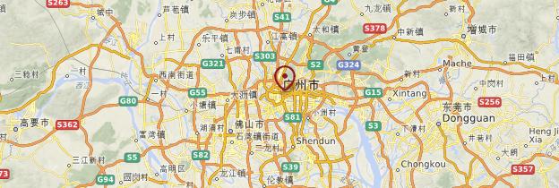 Carte Canton (Guangzhou) - Chine