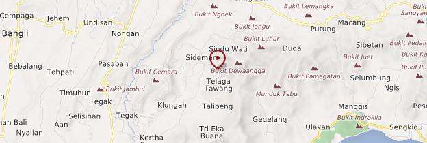 Carte Sidemen - Bali