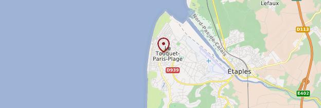 Carte Le Touquet-Paris-Plage - Nord-Pas-de-Calais