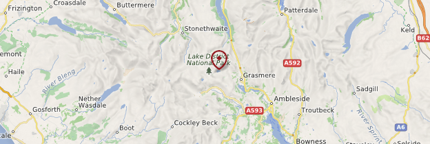 Carte Lake District - Angleterre