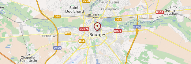 Carte Bourges - Berry