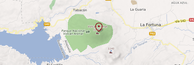 Carte Volcan Arenal - Costa Rica