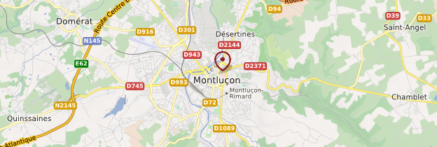 Carte Montluçon - Auvergne