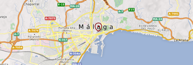 Carte Málaga - Andalousie