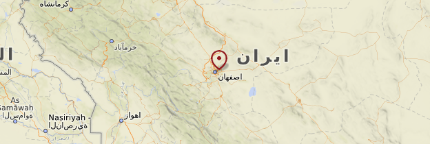 Carte Ispahan - Iran