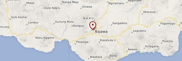 Carte Bajawa - Indonésie