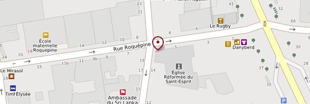 Carte Église réformée du Saint Esprit - Paris