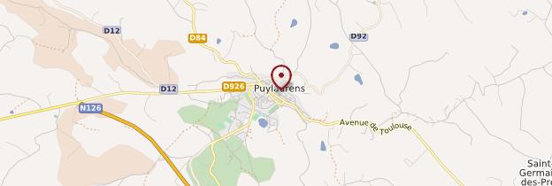 Carte Puylaurens - Midi toulousain - Occitanie
