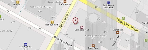 Carte Carnegie Hall - New York