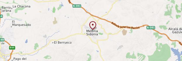 Carte Medina-Sidonia - Andalousie