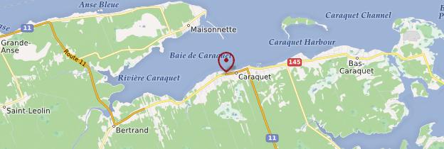 Carte Caraquet - Canada